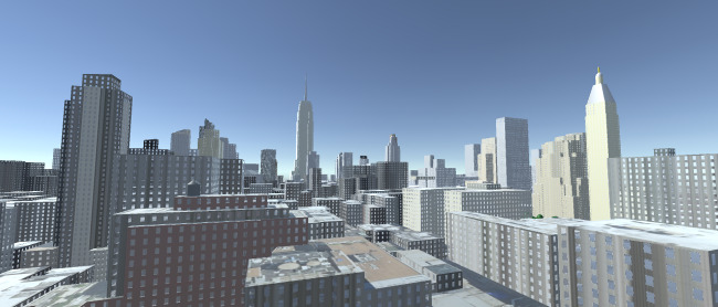 Geopipe's model of midtown Manhattan previewed in the Unity game engine.