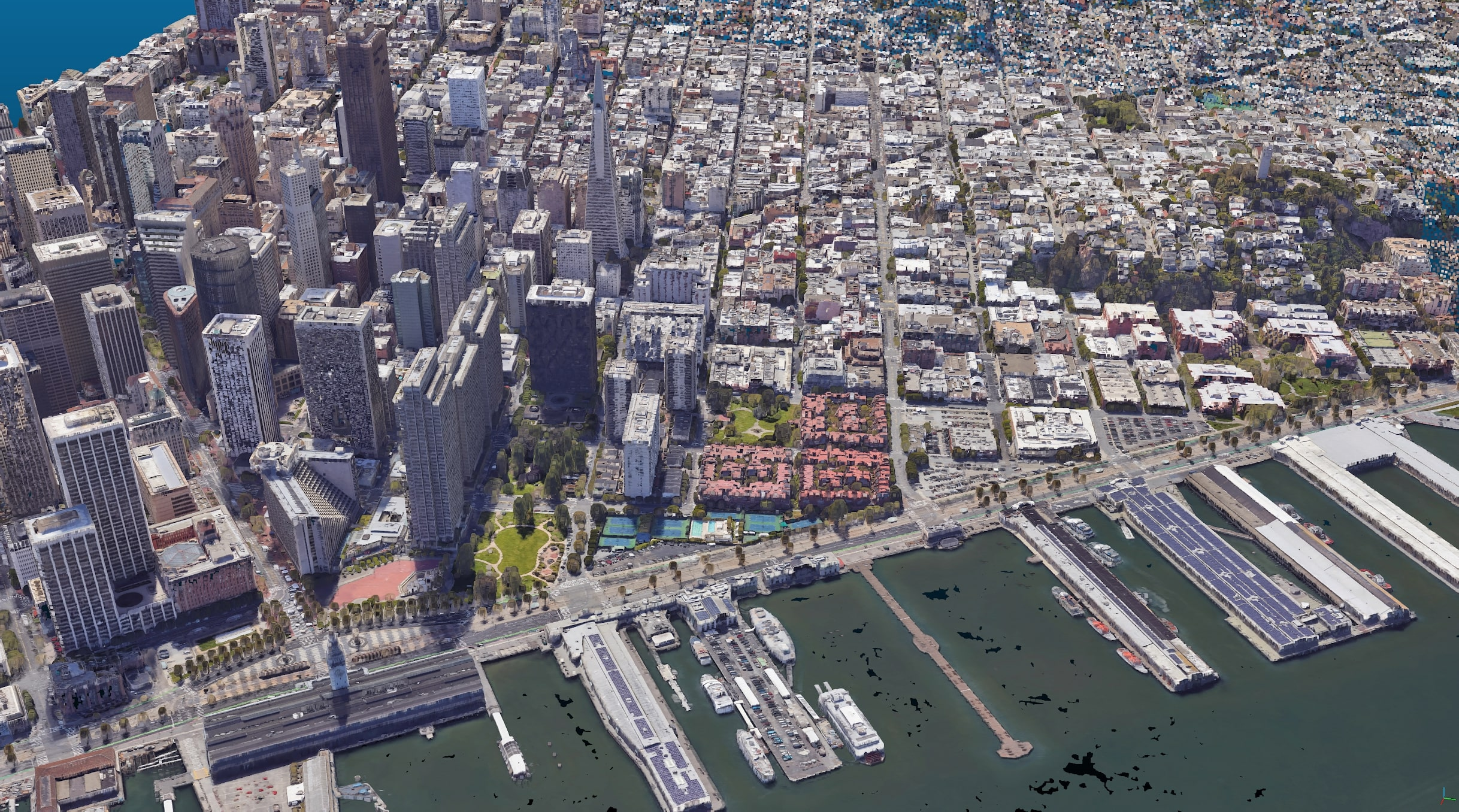 Point Cloud of San Francisco waterfront