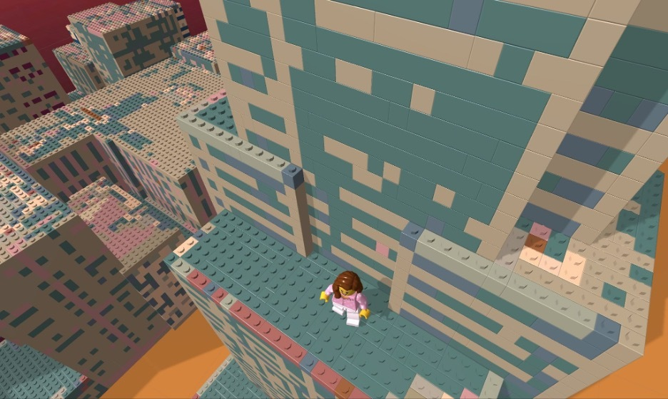 Level 2 in Life Among the Bricks reveals a LEGO-fied Manhattan.