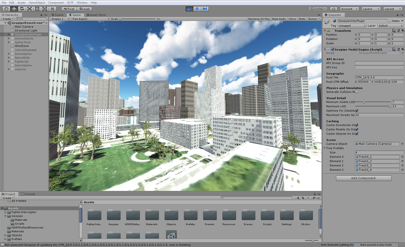 Yerba Buena Gardens and surroundings in Geopipe's virtual San Francisco