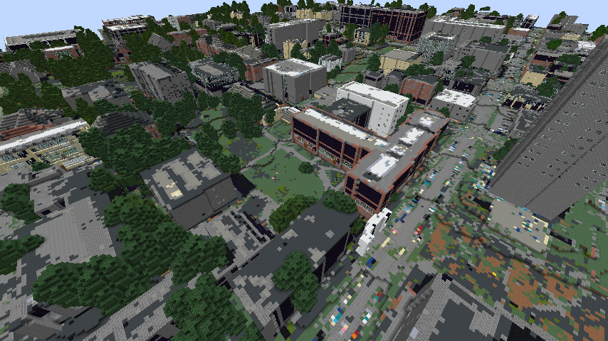 Geopipe's Providence, RI world in Minecraft