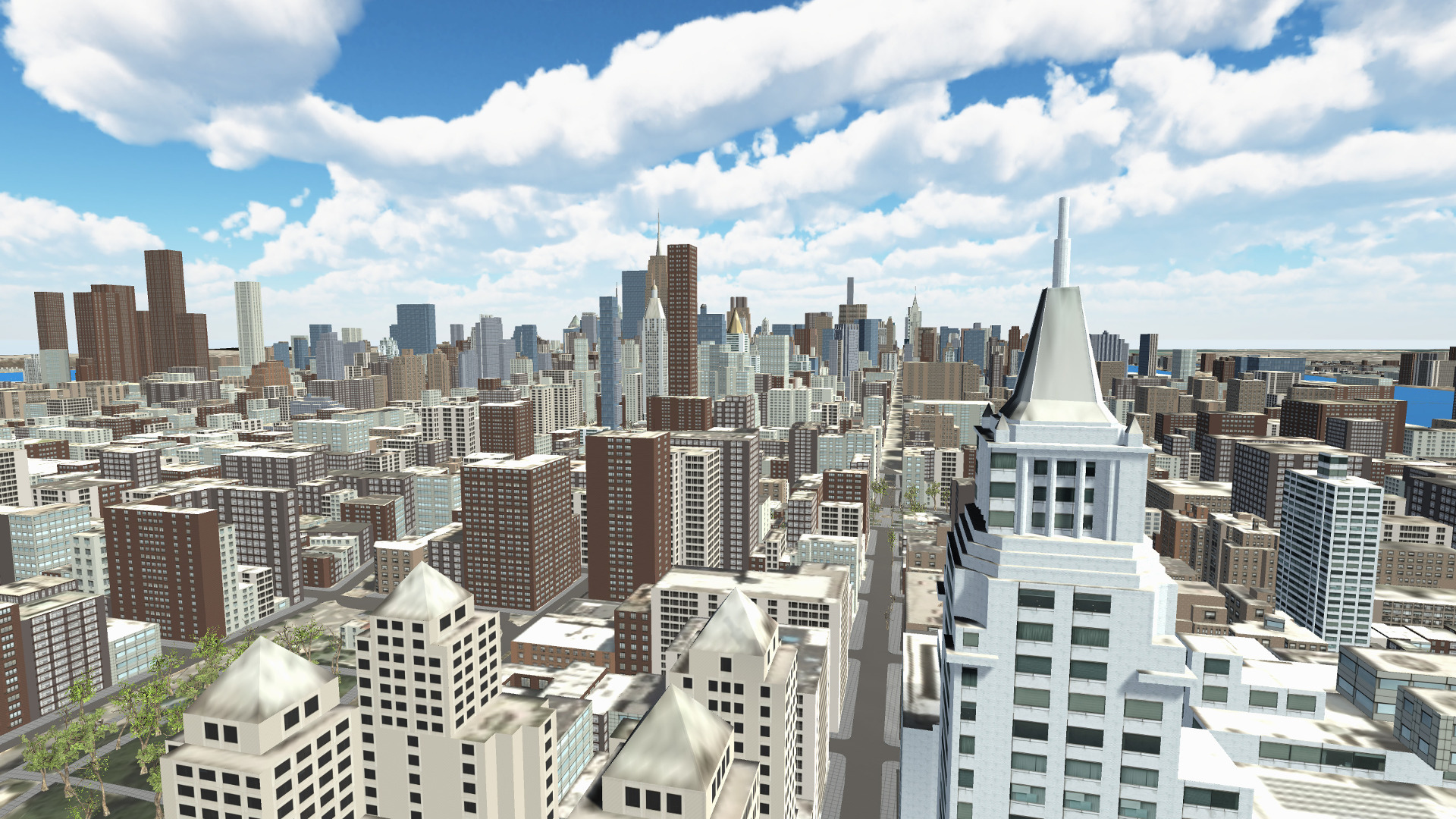 Looking uptown in New York City with the Geopipe Unity SDK 0.2.3